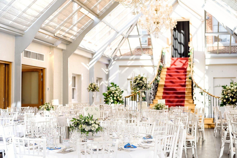 botleys mansion wedding venue tables