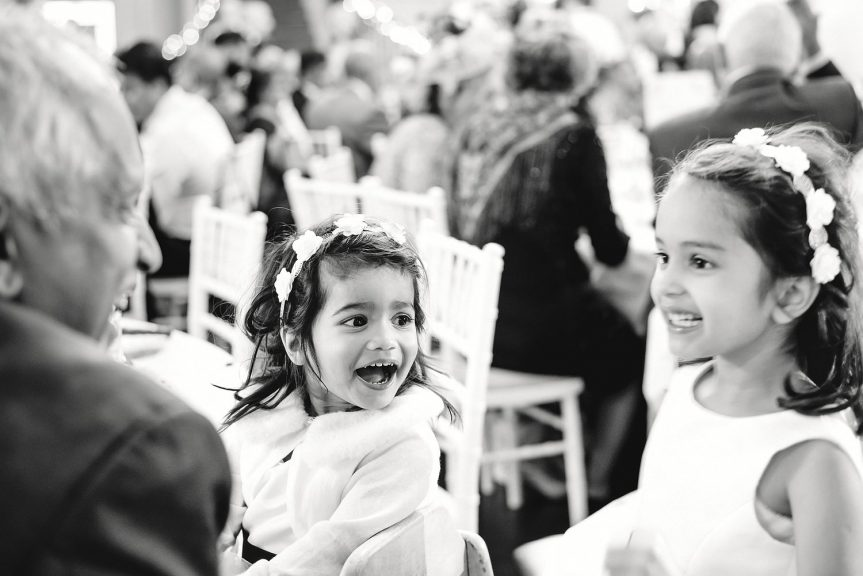 Children laughing at Botley's Mansion wedding venue in Surrey