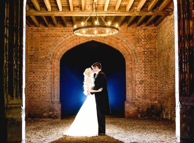 Bride and groom portrait at Leez Priory wedding venue taken by an Essex Wedding Photographer