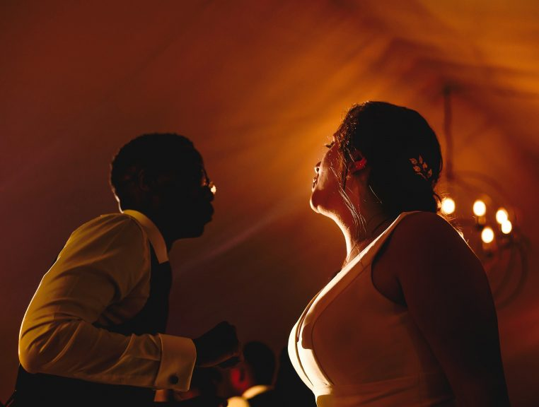 Bride and groom dancing at Pylewell Park Wedding venue in Hampshire