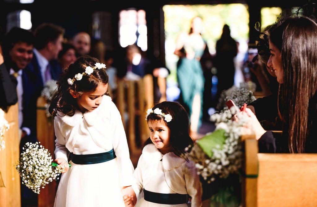 flower girls at wedding
