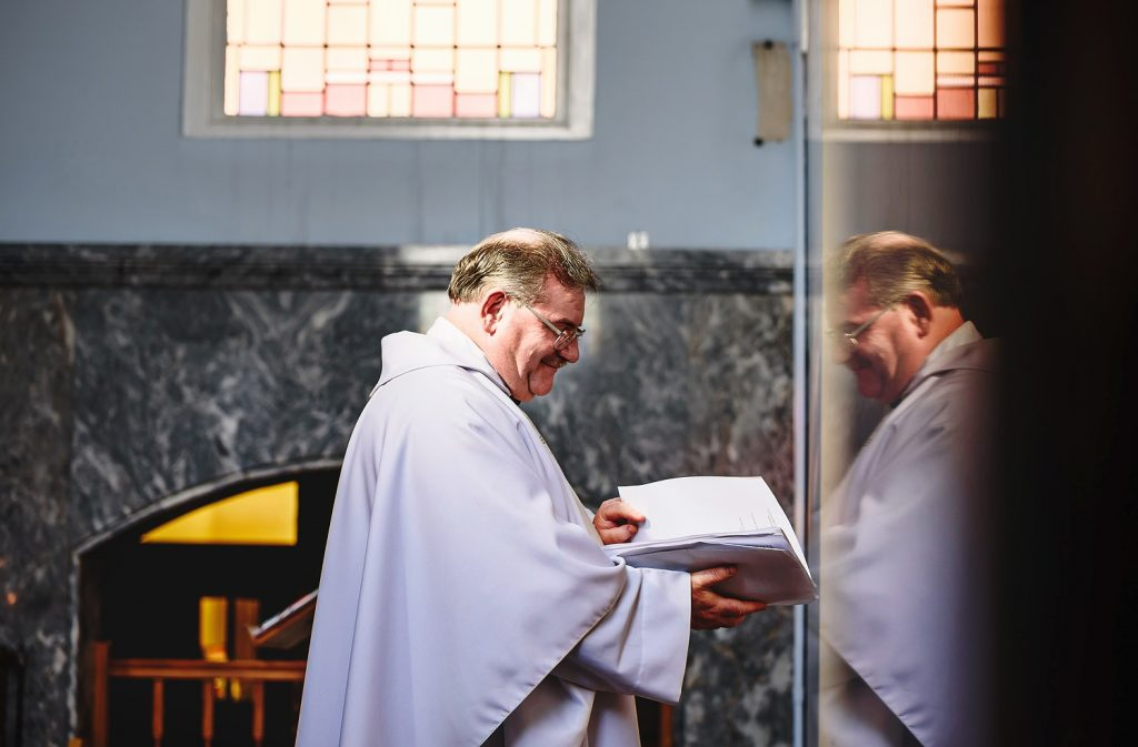 priest at surrey wedding