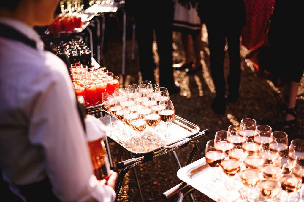 drinks reception at botleys mansion