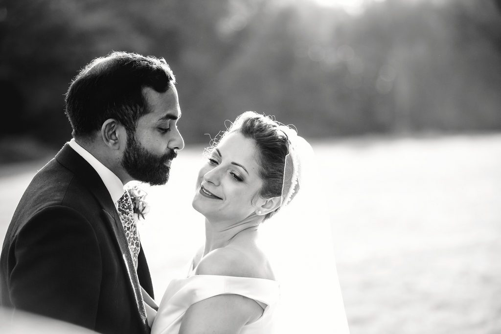 bride and groom portraits at botleys mansion