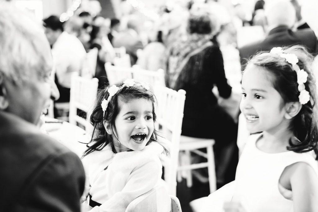 children playing at wedding venue