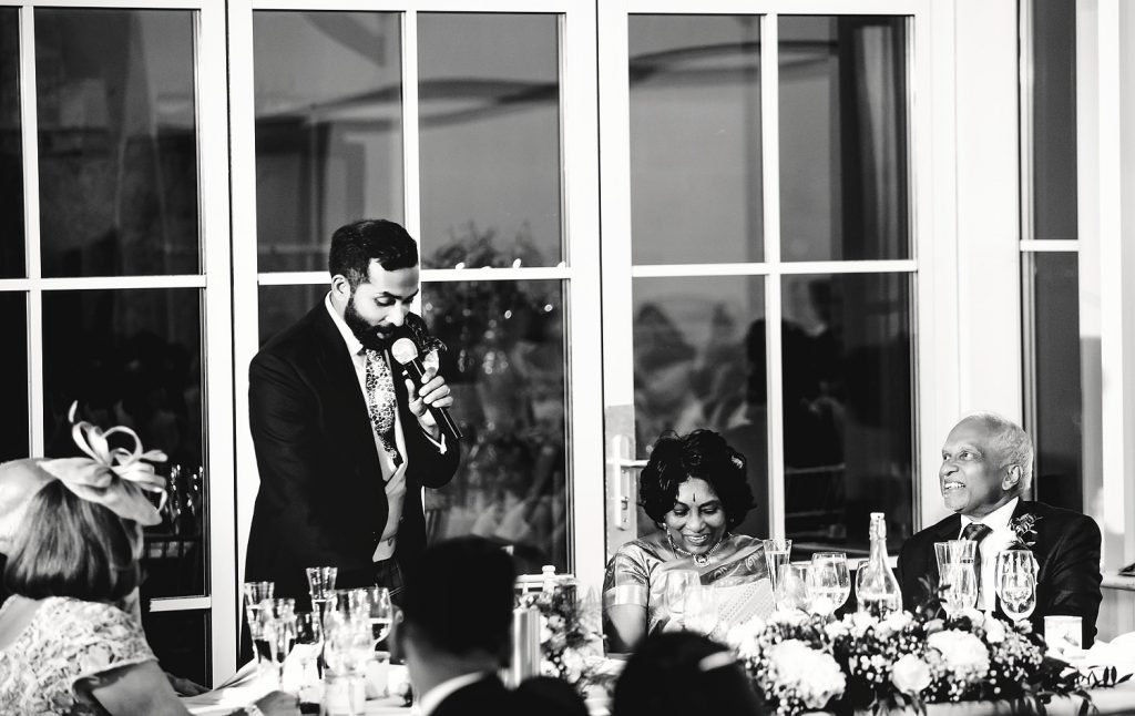 groom making speech about parents