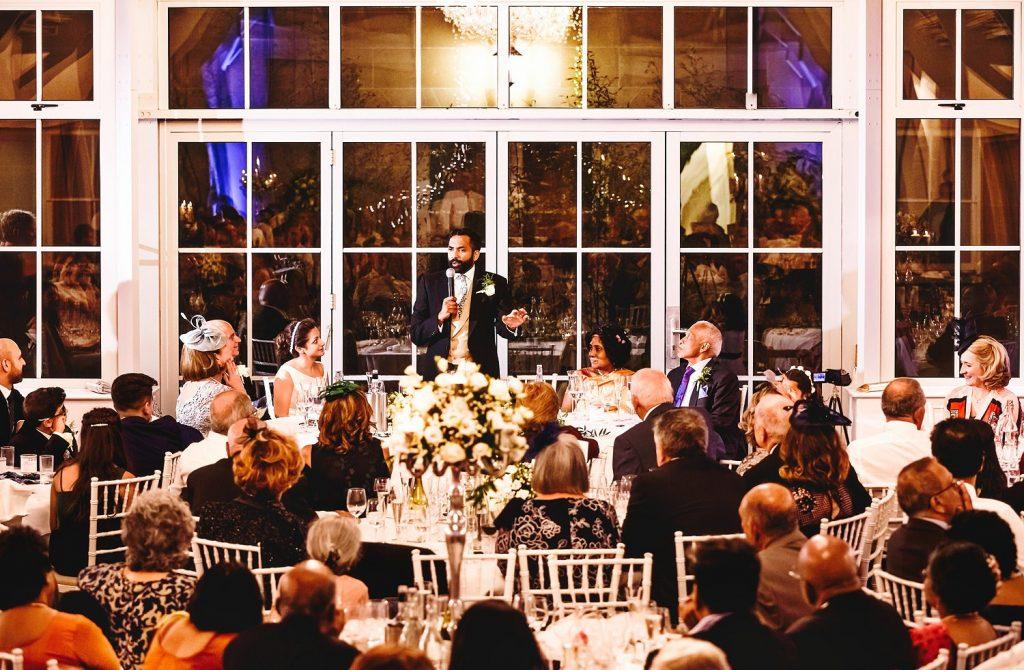 wedding speech at botleys mansion