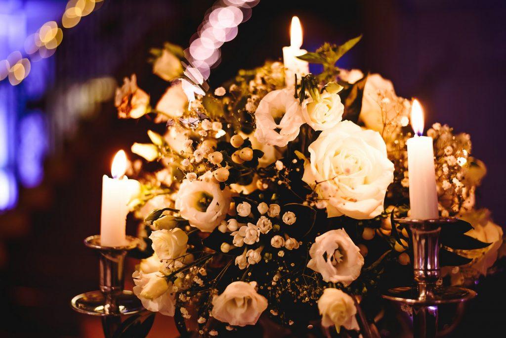 flower arrangement at botleys mansion