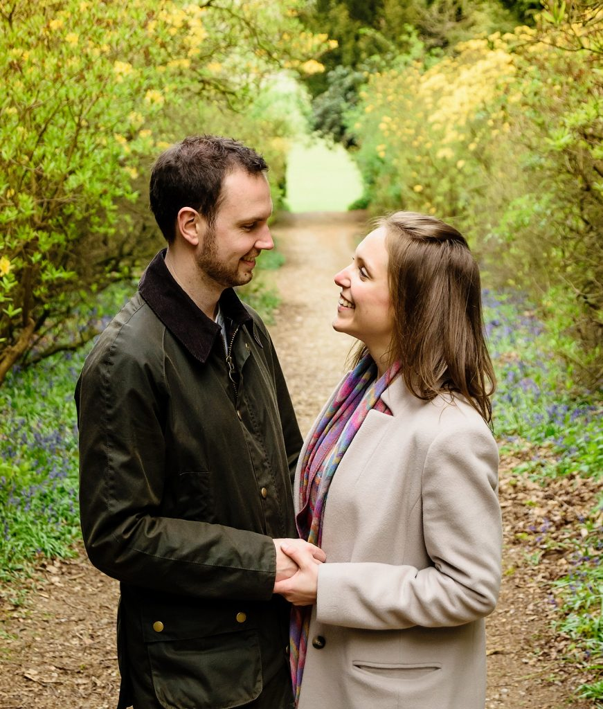 engagement session in brentwood weald country park